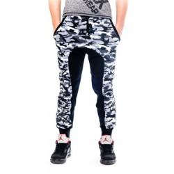 Mordex spodnie sportowe- dresowe ze ściągaczem ( moro czarne)